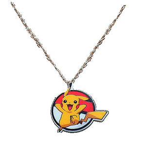 "Pokemons ""Pikachu"" on a Girl or Boys Necklace"