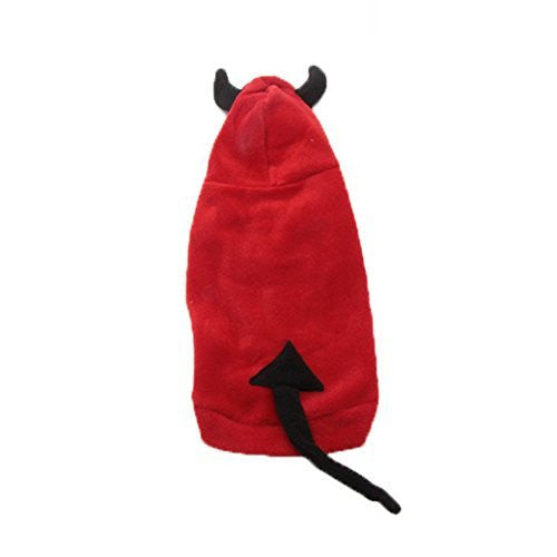 Basket Hill, Red Devil Hoodie Costume for Dogs (M, L) - Basket HIll Watches & Gifts