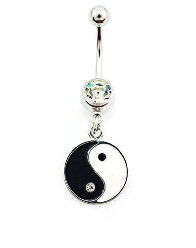 Black and White Yin Yang Belly Ring - Basket HIll Watches & Gifts