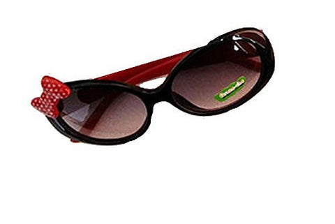 Girls Sunglasses w/ Red Dot Bow and Smiley Red Arms (UV400) - Basket HIll Watches & Gifts