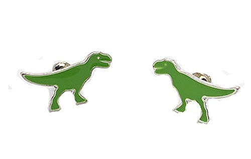 Basket Hill Watches and Gifts Green Dinosaur Post Earrings [Jewelry] - Basket HIll Watches & Gifts