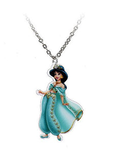 "Aladdin's "" Jasmine"" (one sided) Girls Necklace, Cartoon, Book, TV"