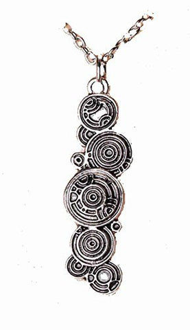 "Basket Hill Watches, Silver Tone "" DR Who Tardis / Gallifreyan Key Necklace - Basket HIll Watches & Gifts"