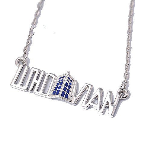 "Basket Hill Watches, Silver Tone Dr Who "" WHOVIAN "" and Tardis Necklace - Basket HIll Watches & Gifts"