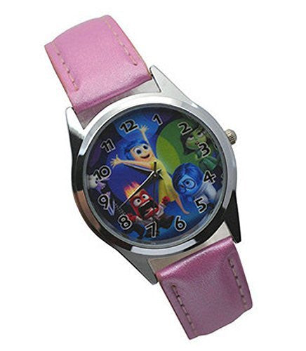 "Inside Out Movie "" Joy "" on a Girls Pink Leather Wrist Watch"
