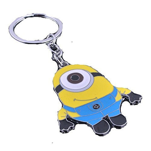 "Despicable Me ""Minion"" on a Silver Plated Key Chain"