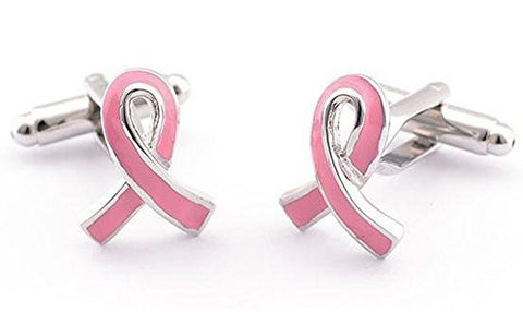 "Basket Hill ,Breast Cancer"" Pink Ribbon"" Cufflinks - Basket HIll Watches & Gifts"