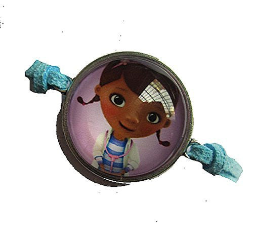 Doc McStuffins on a Blue Leather Girls Strand Bracelet - Basket HIll Watches & Gifts