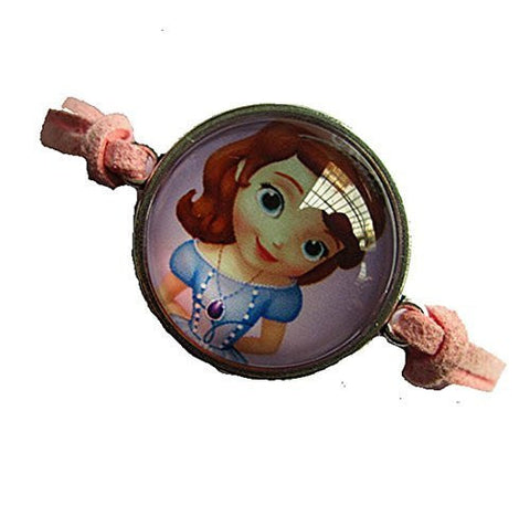 Anna as Child (Frozen) Pink Leather Girls Strand Bracelet - Basket HIll Watches & Gifts