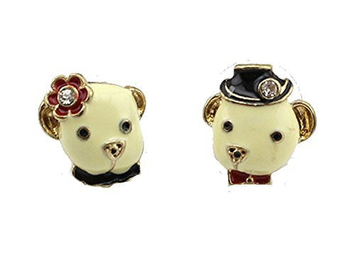 Basket Hill, Pug / Dog or Bear Momma and Pappa Girls Post Earrings - Basket HIll Watches & Gifts