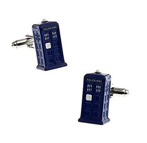 "Basket Hill, Dr Who "" Tardis "" 3D Cufflinks - Basket HIll Watches & Gifts"