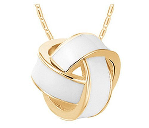 Basket Hill , White and Gold- Look Knot on Necklace - Basket HIll Watches & Gifts