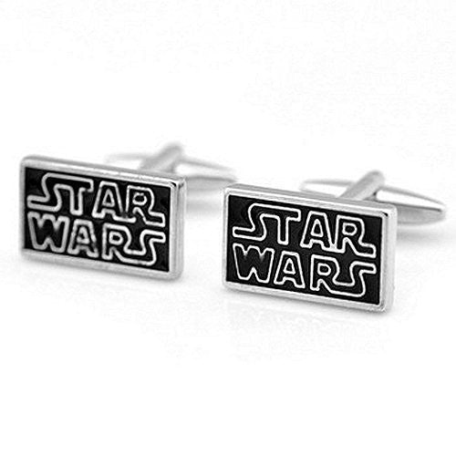 Basket Hill, Star Wars (Black and Silver) Cufflinks - Basket HIll Watches & Gifts
