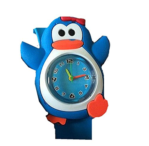 Adorables, Girls Penguin Slap Watch with Blue Plastic Watch Band