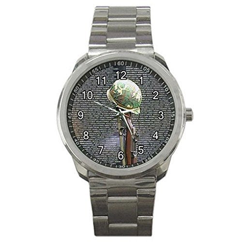 Soldier Tribute on a Silver Sports Watch - Basket HIll Watches & Gifts