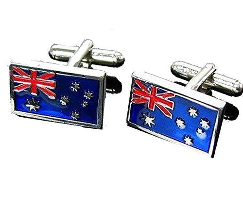 Basket Hill ,Rectangular Australian Flag Cufflinks - Basket HIll Watches & Gifts