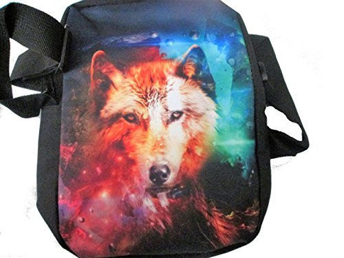 Mystic Wolf on a Messenger Bag/ Purse, / School Bag, Adjustable Strap - Basket HIll Watches & Gifts