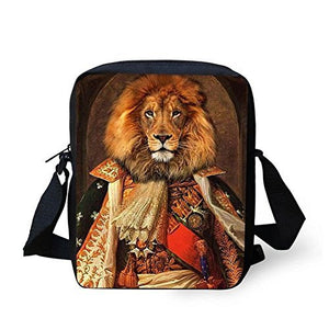 """Lion"" General on a Zipper Messenger Bag/ Purse, Adjustable Strap - Basket HIll Watches & Gifts"