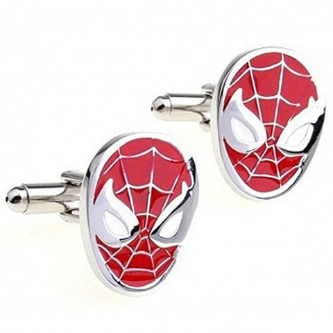 Basket Hill , Spiderman Red and Silver Cufflinks - Basket HIll Watches & Gifts