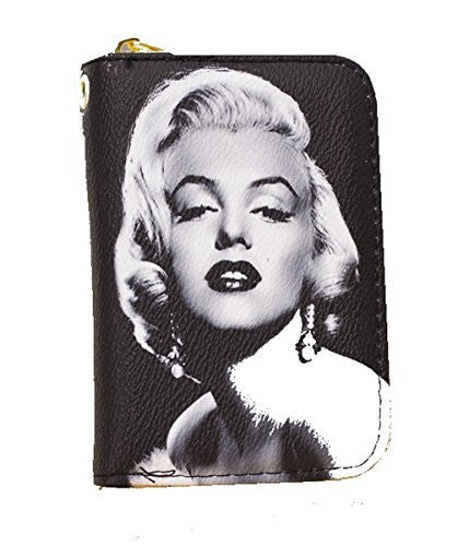 Marilyn Monroe Women , Mini-Wallet with Zipper Closure - Basket HIll Watches & Gifts