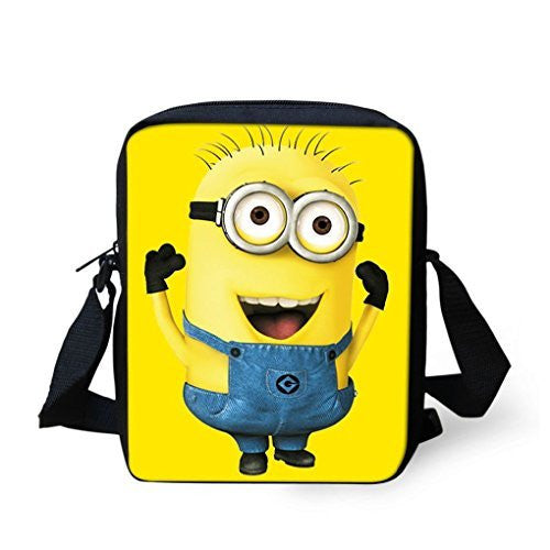 Minion on a Messenger Bag/ Purse, / School Bag, Adjustable Strap