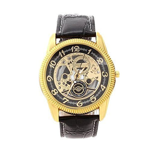 Mechanical Black and Gold Mens or Womens Watch
