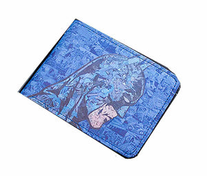 Blue Batman ART Design Wallet .for Kids - Basket HIll Watches & Gifts