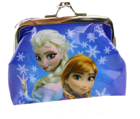 "Blue Snowflake Frozen  "" Elsa and Anna"" Coin Purse For Girls - Basket HIll Watches & Gifts"