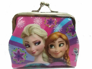 "Pink  Frozen  "" Elsa and Anna"" Coin Purse For Girls - Basket HIll Watches & Gifts"