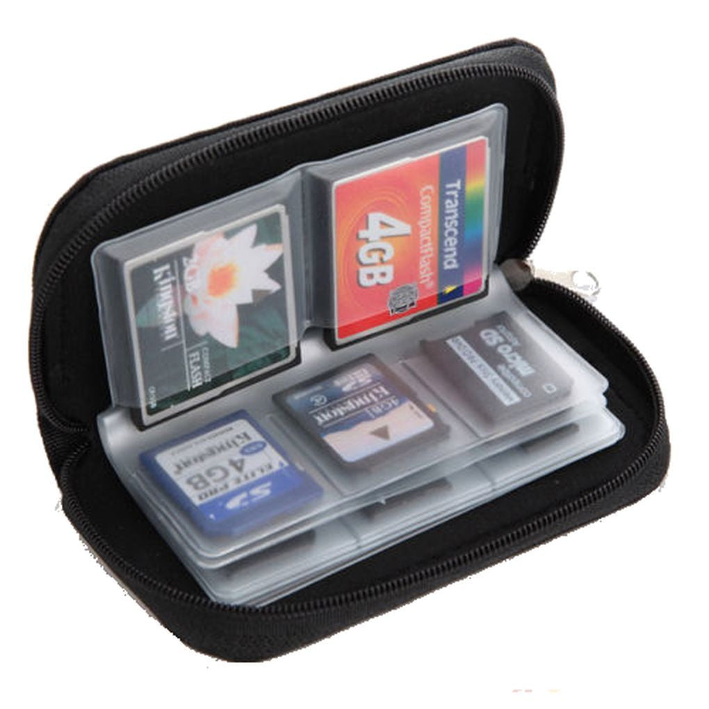 Black SD , SHDC , MCC and Memory Card Holder - Basket HIll Watches & Gifts