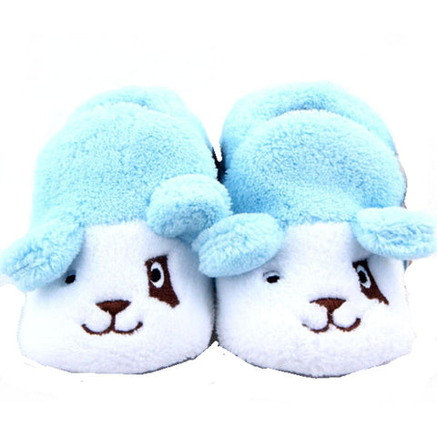 Adorable Baby Boys Puppy Dog Booties - Blue and White  (0-12 months) - Basket HIll Watches & Gifts
