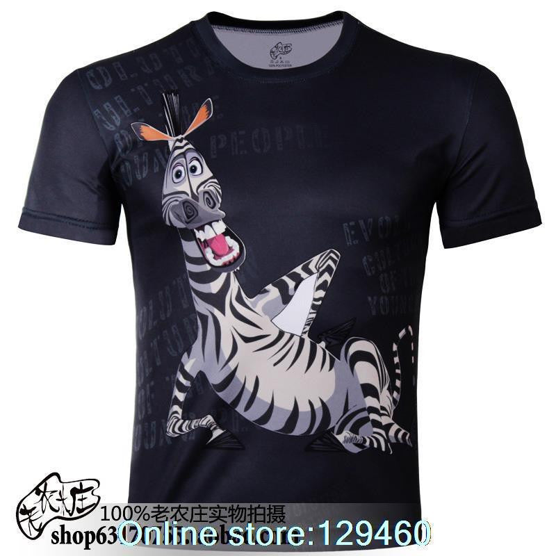 Men's Zebra , Cartoon  Plus Size 3D T-Shirt 4x - Basket HIll Watches & Gifts