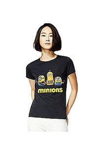 "Womens Despicable Me / Minion"" Im with Stupid"" on Black T-Shirt / Top"