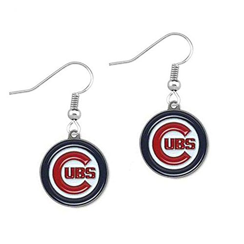 Chicago , Cubs ( Baseball Team) Women's Round Dangle Earrings (one side)