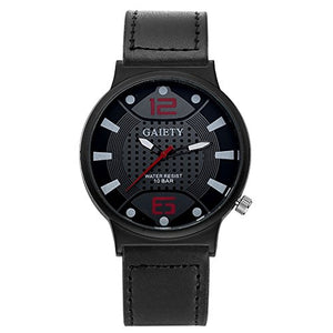 Gaiety Brand Striking Men's Black and RED Military Style Watch