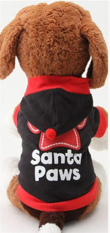 "Christmas "" Santa Paws"" Outfit for Dogs (S, M, L) - Basket HIll Watches & Gifts"