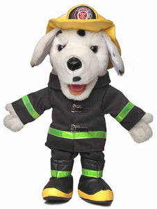 "14"" Dalmatian Fire Dog Hand / Glove Puppet (Peach)"