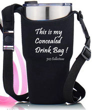 Load image into Gallery viewer, Concealed Drink - Tumbler / Water Tote - Black