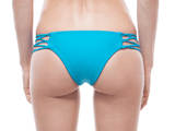 Back View | AQUA | LACE UP BIKINI BOTTOM