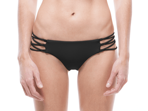 BLACK | LACE UP BIKINI BOTTOM