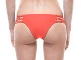 Back | TANGERINE | LACE UP BIKINI BOTTOM