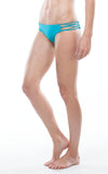 Side View | AQUA | LACE UP BIKINI BOTTOM