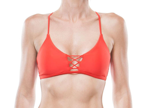 TANGERINE | LACE UP BRALETTE