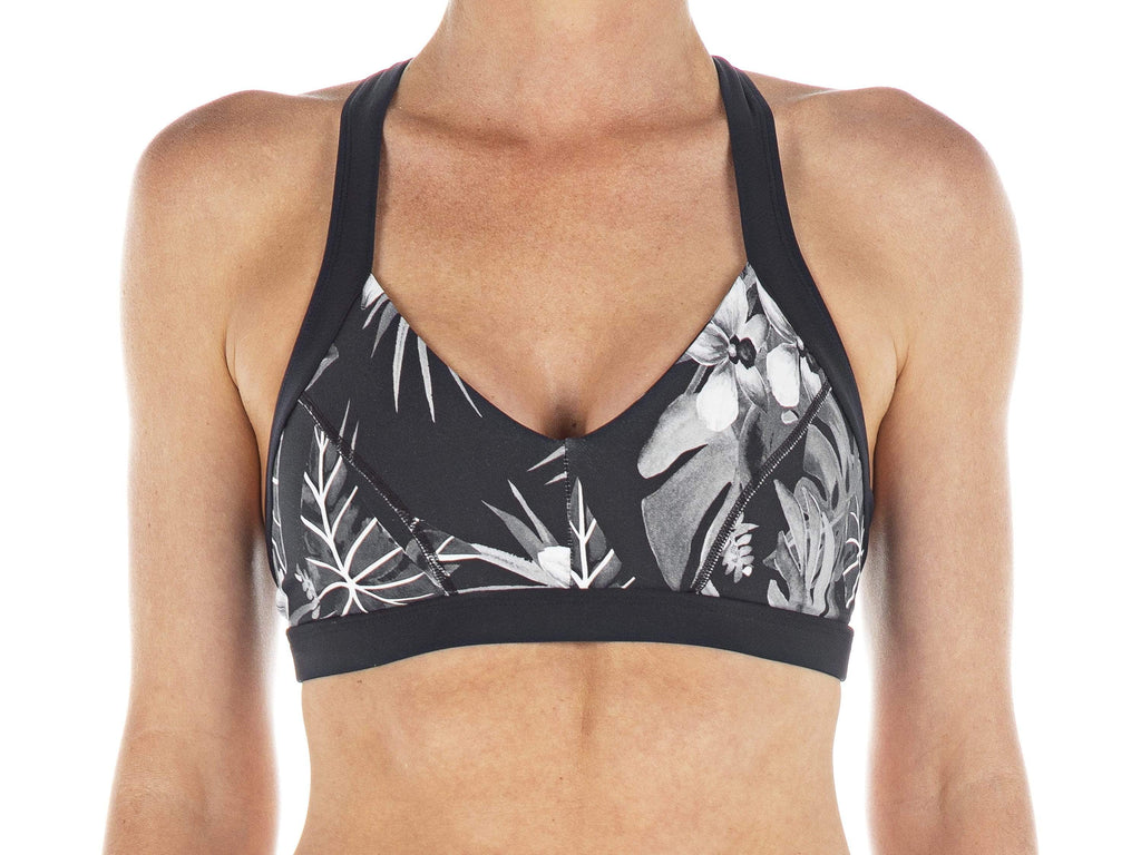 Taro Leaf | Lehua Cross-Strap Sports bra