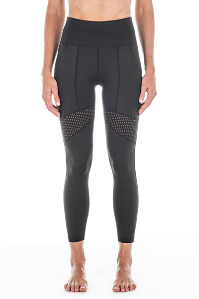 New Black / Italian Mesh | Moana Leggings
