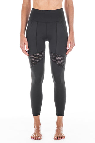 New Black / Italian Mesh | Moana Activewear Leggings