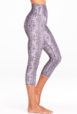 Snake Skin | Kailani High Waist Capri - WITH LOVE FROM PARADISE