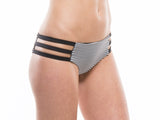 Side View | STRIPE | TRI STRAP BIKINI BOTTOM