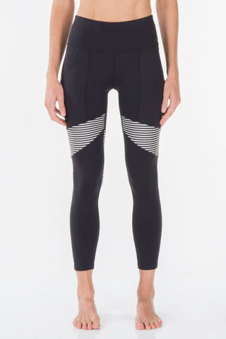 BLACK & STRIPE | MOANA LEGGING