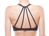 Back | BLACK & CHARCOAL | WEB BACK BRALETTE